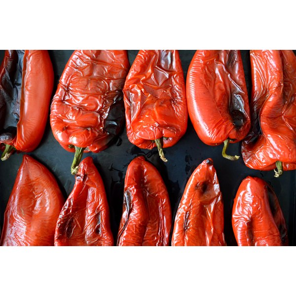 Roasted red peppers impart a strong, savory flavor to appetizers and main dishes.
