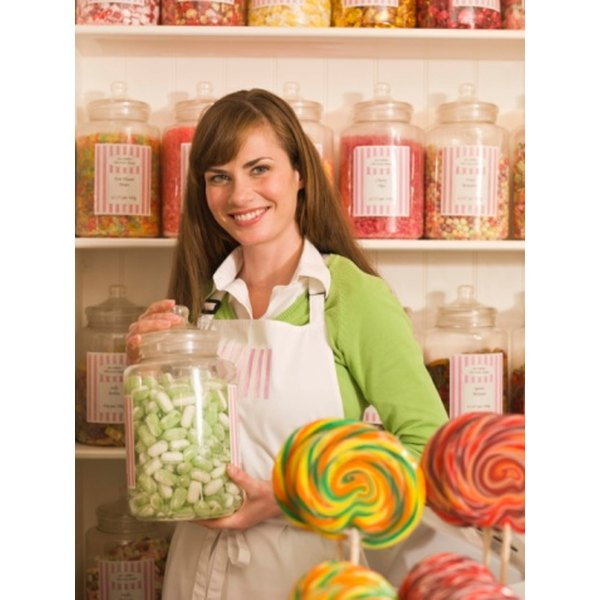 Put your own candy gram together by visiting the candy shop.