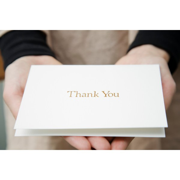 It's proper etiquette to send thank you cards for a surprise party.