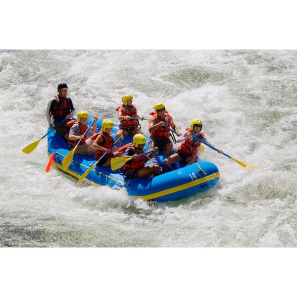 Give him the experience of rafting along class IV rapids.