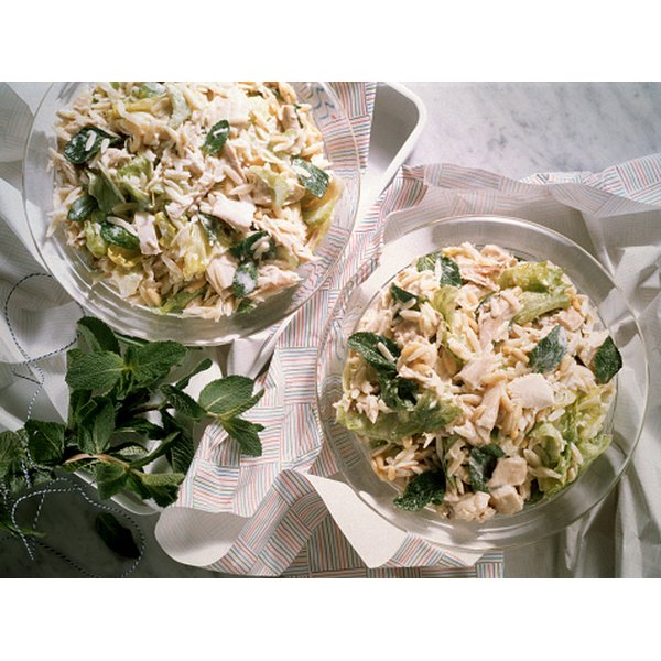 Chicken salad doesn't have to contain mayonnaise.