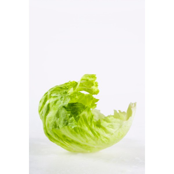 Cooked iceberg lettuce makes a tasty and colorful addition to soups and stir-fry.