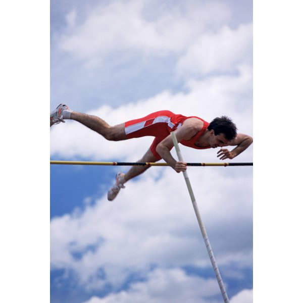 Pole vaulters need high energy and strength.