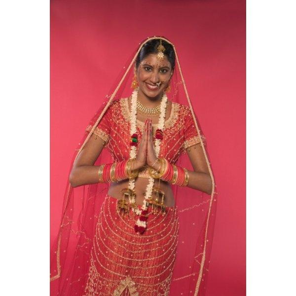 Hindu brides traditionally wear red.