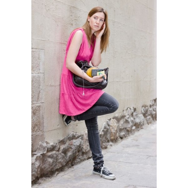 Converse shoes can add a rocker style to an outfit.