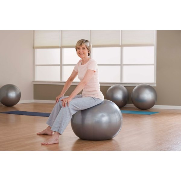 First perform gentle exercises, such as pelvic tilts on an exercise ball.