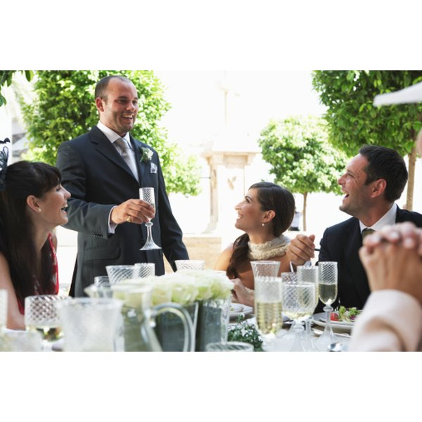 Keep guests entertained with a humorous wedding toast.