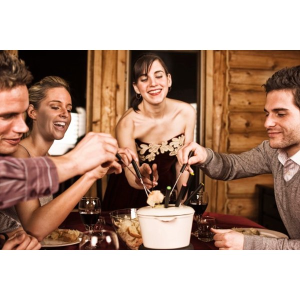 Fondue is a Swiss tradition and is typically shared as an event with friends or family.
