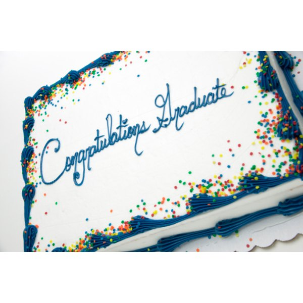 Serve a graduation cake at the party for dessert.