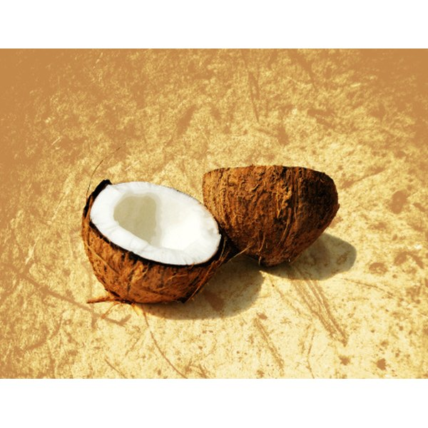 Coconut oil is high in saturated fat and lauric acid.
