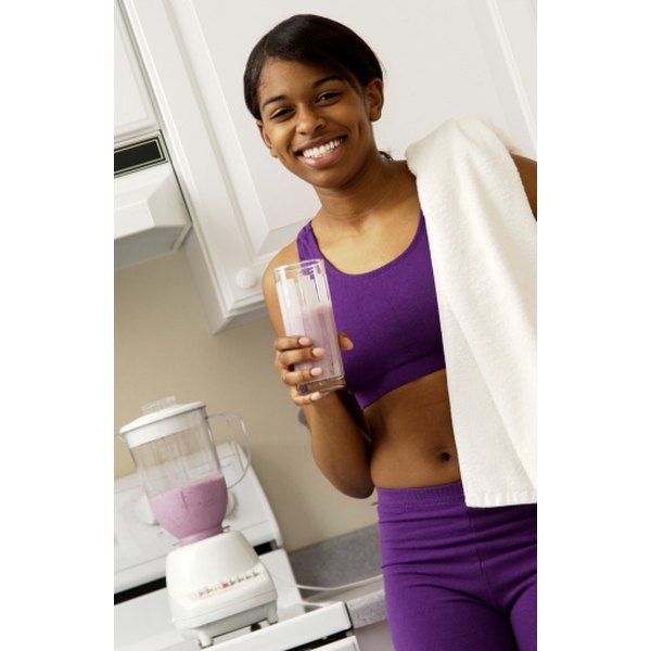 A soy protein shake can be a delicious and nutritious reward after a workout.