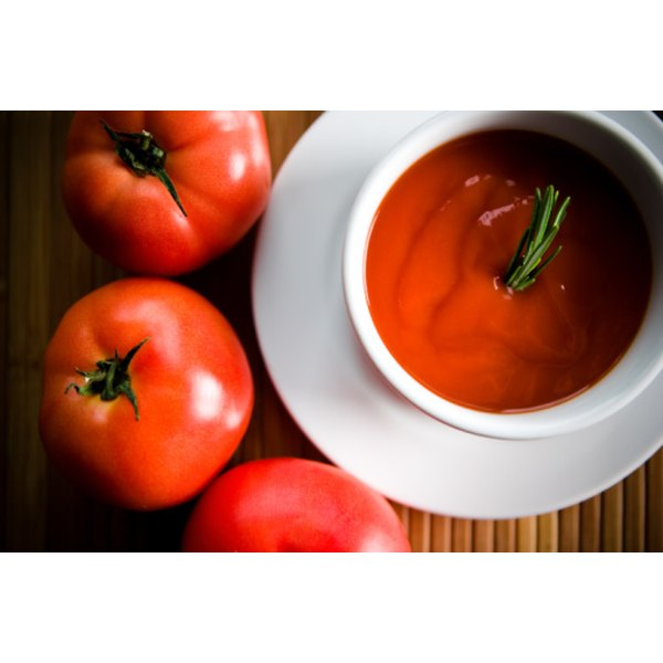 Tomato soup can be made from both fresh and canned tomatoes.