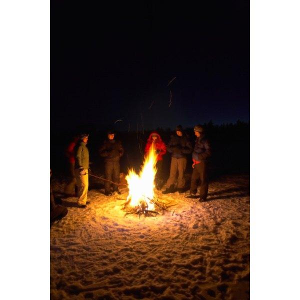 Bonfires can be the center of a fun evening.