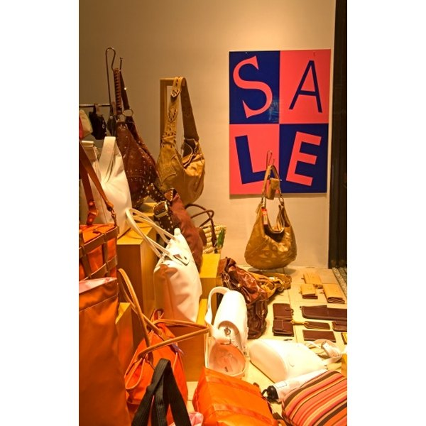 Displaying your handbags and purses in an attractive setting can help increase sales.