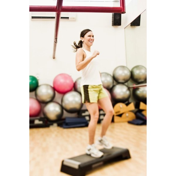 Step aerobics burns a high rate of calories in a short period of time because it engages your whole body.