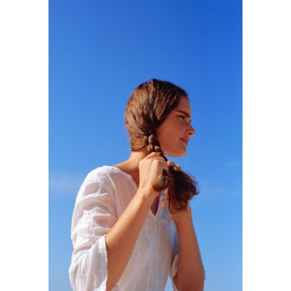 You can create a side braid without any products as it is intended to be a natural look.