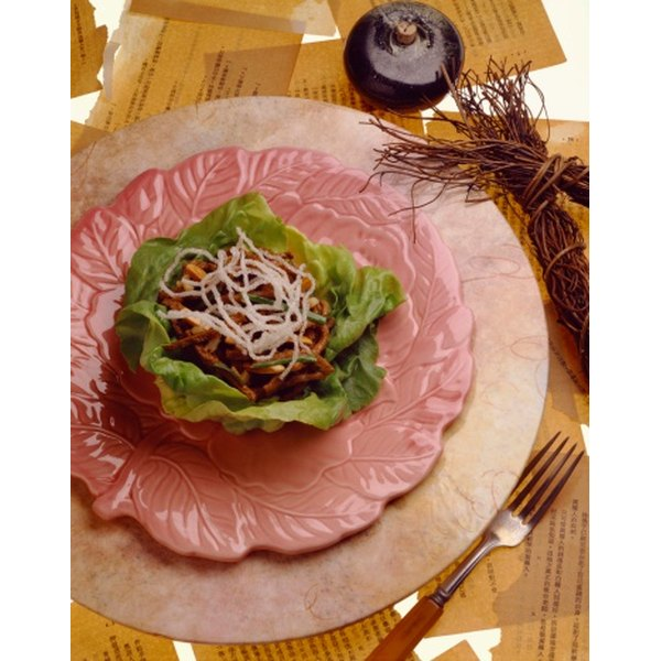 Prepare delicious savory wraps with Chinese lettuce leaves.