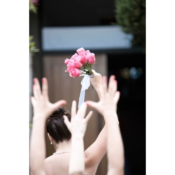 The master of ceremonies at a wedding announces events such as the bouquet toss.