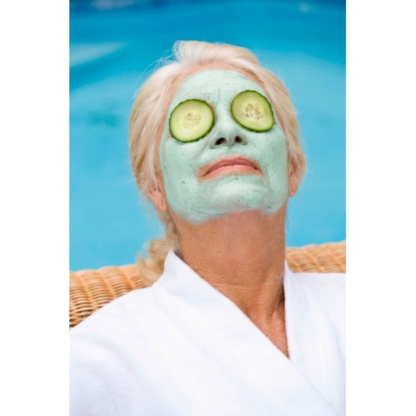 Placing cucumber slices on your eyes while your face mask sets can reduce puffiness.
