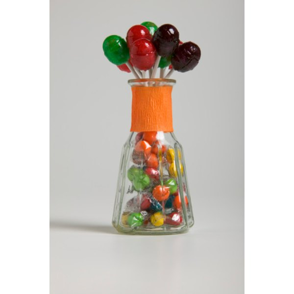 Blow Pops make a colorful and whimsical centerpiece.