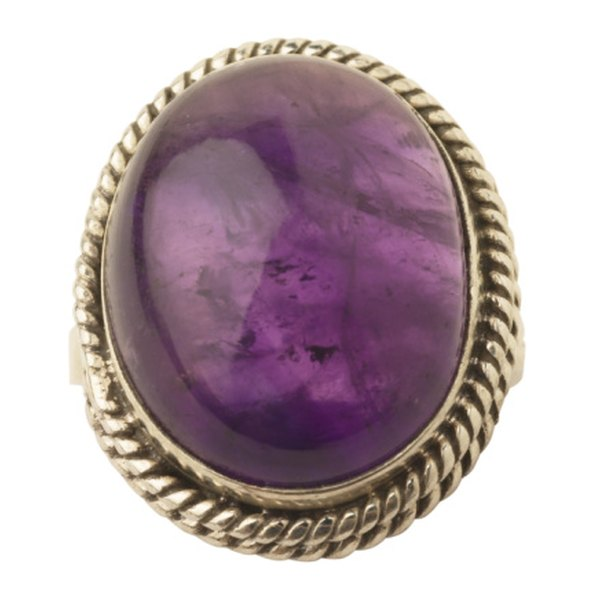 Purple amethyst represents royalty, sobriety and devotion.