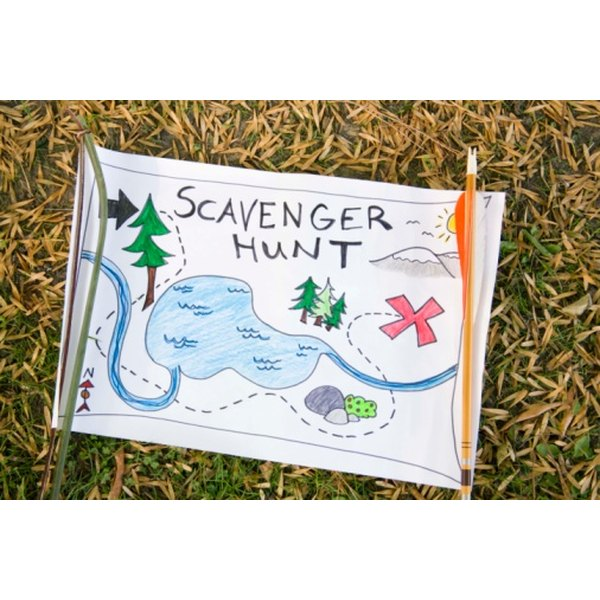 A scavenger hunt adds excitement to any event.