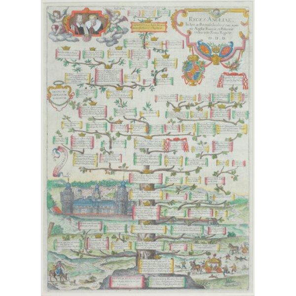 Family trees present a wealth of information in a small space.