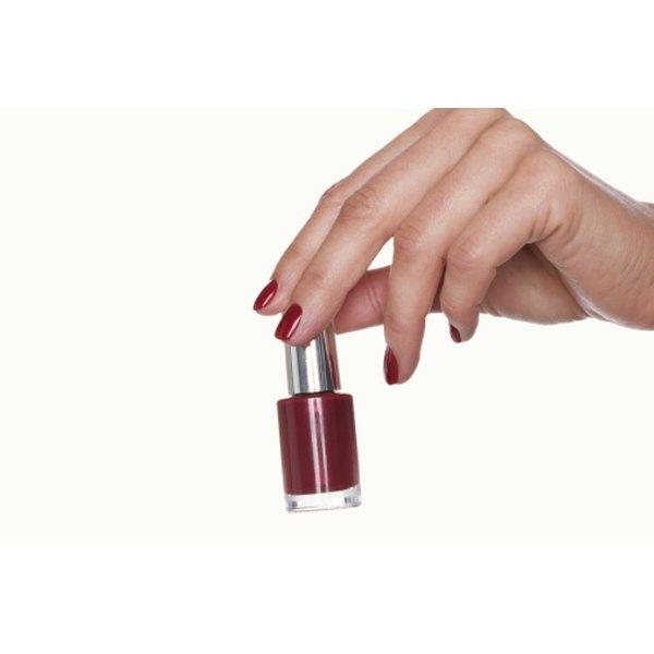 Nail polish makes nails harder and nicer in appearance.