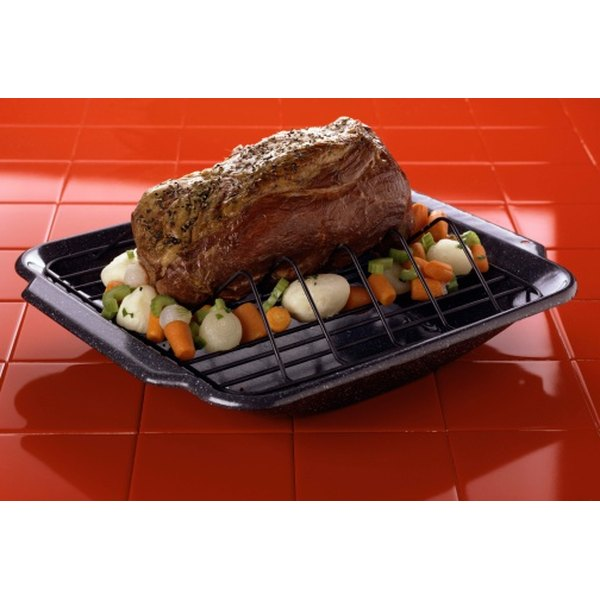A beef roast served with vegetables.