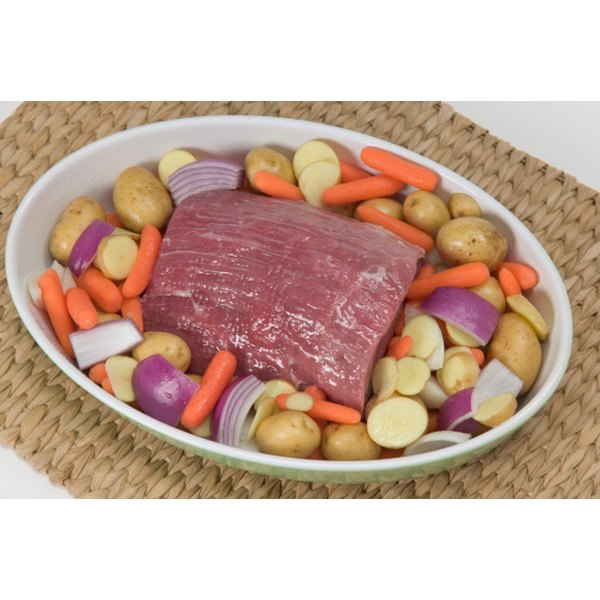Carrots, onions and potatoes are good pairings for pot roast.