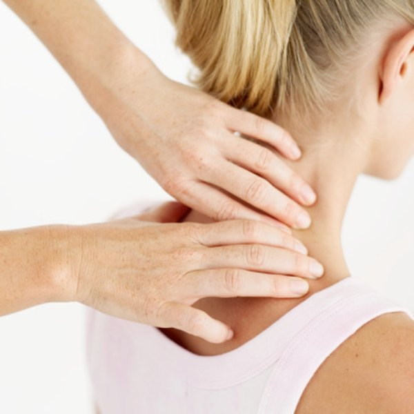 A neck massage can help relieve pain from a cramp.