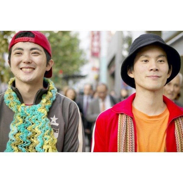 Most Japanese men now wear Western-style hats.