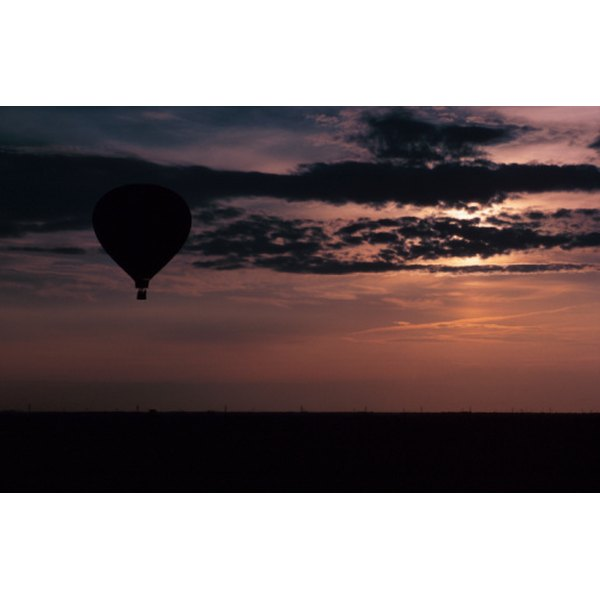 A ride in a hot air balloon is a classic but unforgettable romantic fantasy.