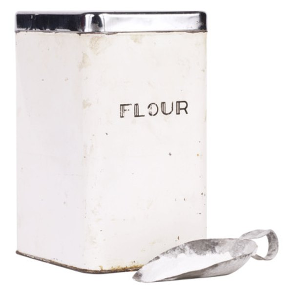 Store flour in a covered container.