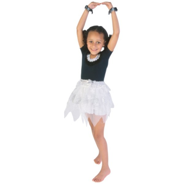 A simple tutu requires tulle and ribbon.