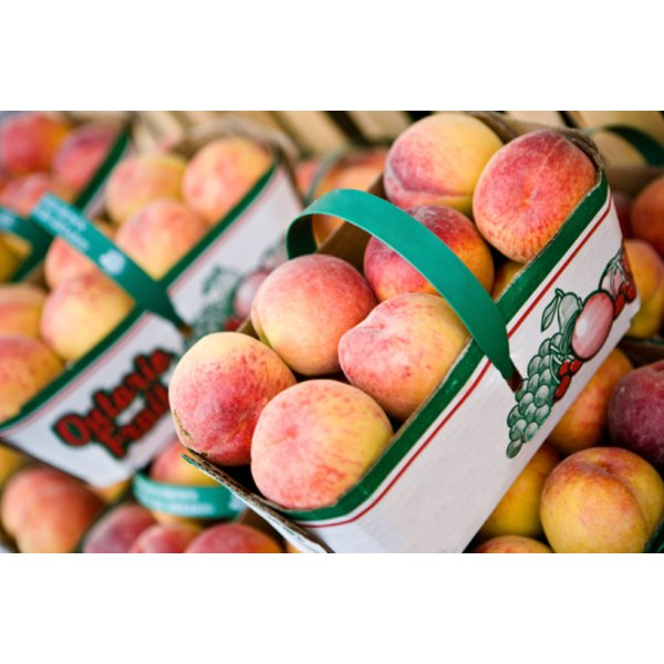 Fresh peaches are high in vitamin A and low in calories.