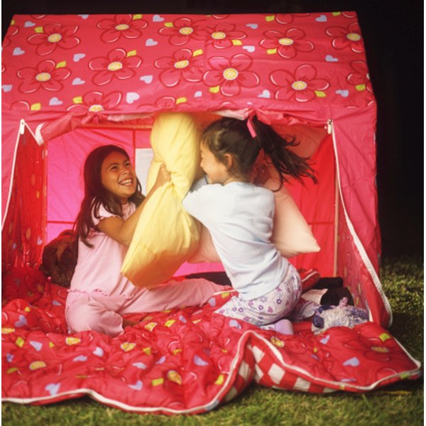 Let the girls camp in the backyard in tents.