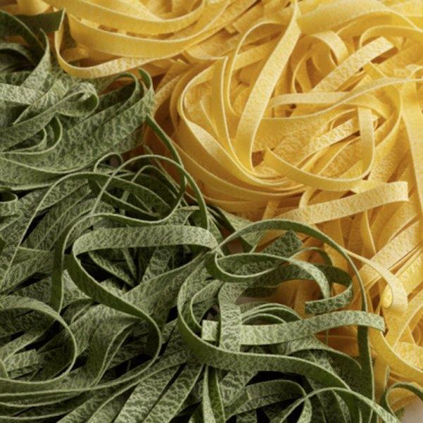 To make fettucinne, cut pasta dough into long, flat ribbons.