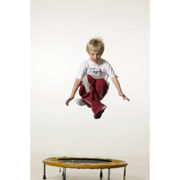 Most injuries occur from falls off the trampoline.