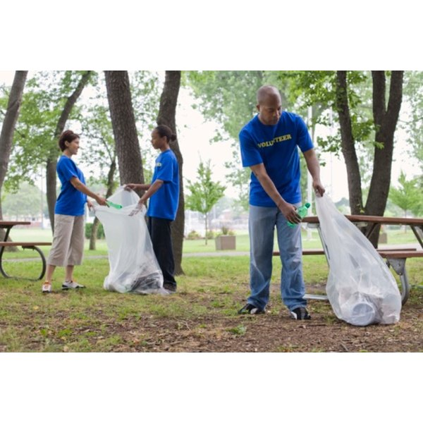 Volunteering to pick up trash can dramatically improve a park's appearance.