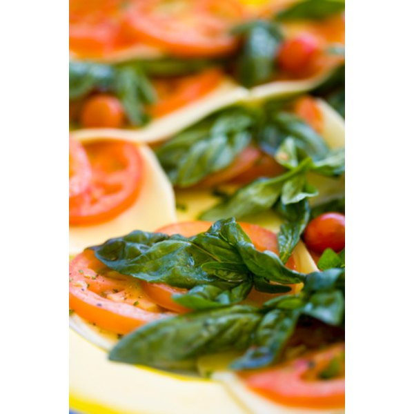 Basil sprigs can be used to add wonderful flavor to a wide variety of dishes.