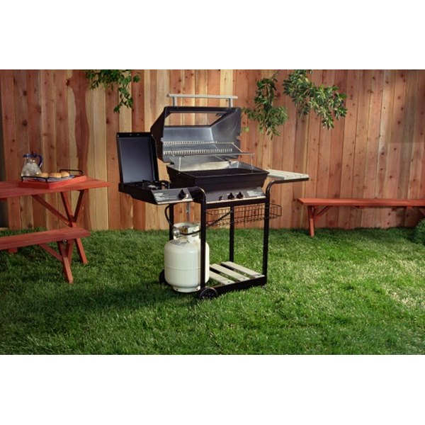 Many gas grills come equipped with a rotisserie assembly.