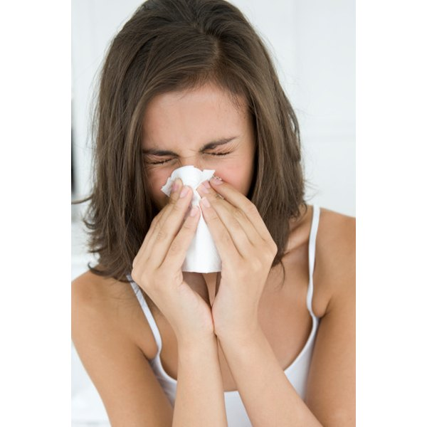 Allergies are often to blame for an itchy nose.