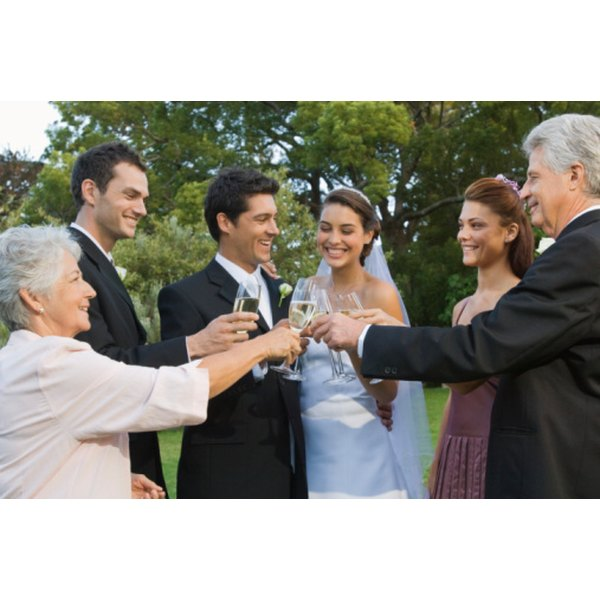 A Maid of Honor's toast to the married couple may be funny or serious.