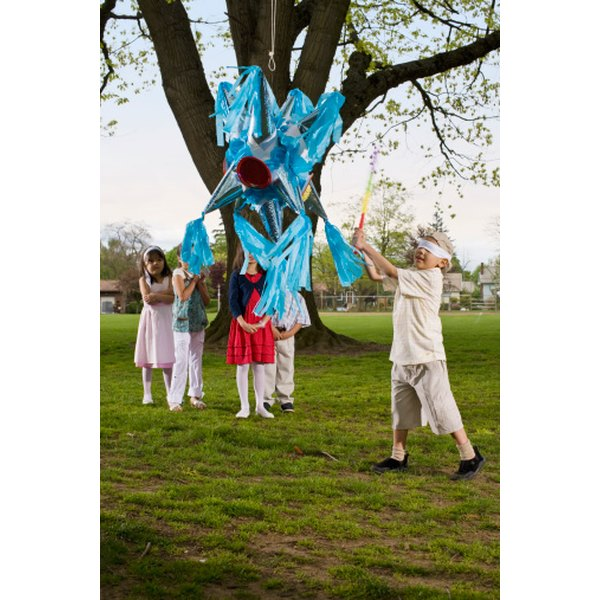 A birthday party at a park might be a good place to try a piñata.