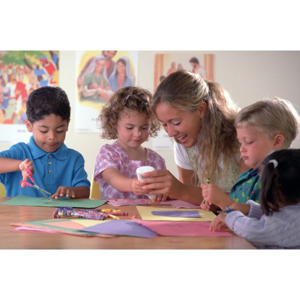 Sunday school activities can be rewarding for both the teacher and the children.