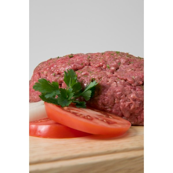 Ground beef may contain chuck, round or sirloin steak cuts.