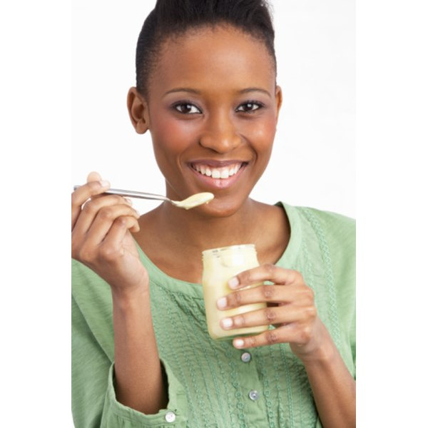 The bacteria in yogurt can help boost digestive health.