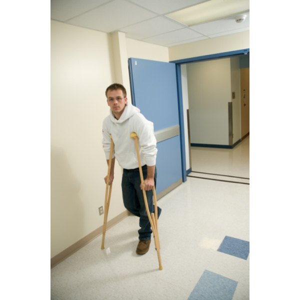 Excessive walking on crutches can lead to underarm pain.