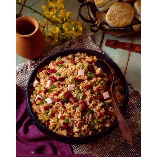 The slow cooker removes excess preparation time, simplifying beans and rice.